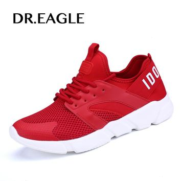 DR.EAGLE Male sports shoes for women 2017 Cushion Man tennis sport running shoes men Breathable Textile Light women sneakers