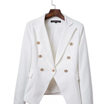 Front Button Double Breasted Blazer