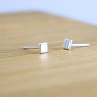 Sterling Silver 4mm Tiny Stud, Tiny Silver stud earrings, Cartilage stud , Dainty earrings, Simple Studs, Bridesmaid Gift, Tiny small stud