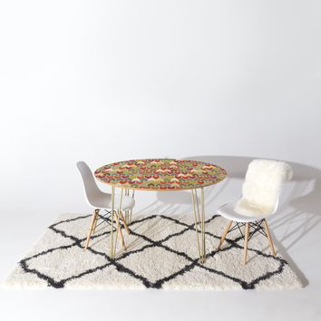 Sharon Turner Beach House Ikat Chevron Round Table