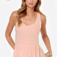 LULUS Exclusive Positive Outlook Blush Top