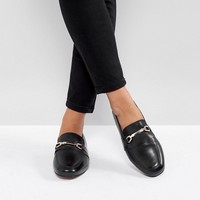 ASOS MOVEMENT Wide Fit Leather Loafers at asos.com