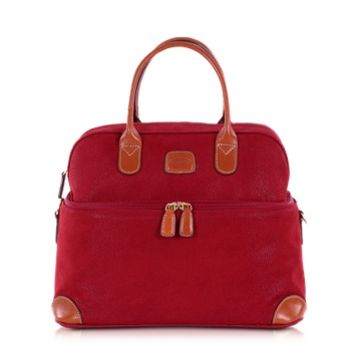 Bric's Designer Travel Bags Life - Red Micro Suede Beauty Case Bag