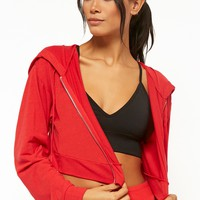 Active Cropped Zip-Up Hoodie