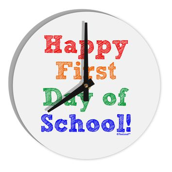 """Happy First Day of School 8"""" Round Wall Clock"""