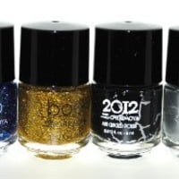 Crackle Style & Nail Lacquer 6 Piece Combo Set (Innocencel Glitter)