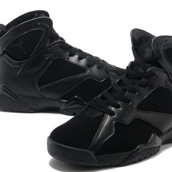 Authentic Air Jordan 7 All Black Custom 304775-010 Shoes-Original Air Jordan 7 For Sale