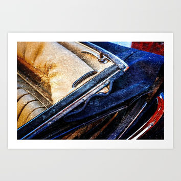 Vintage Car - Velvet Luxury Art Print by digital2real