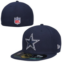New Era Dallas Cowboys Classic 59FIFTY Performance Fitted Hat - Navy Blue