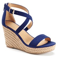 Candie's Women's Espadrille Platform Wedge Sandals
