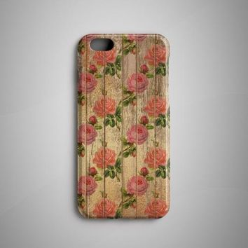 Flowers Wood iPhone X Case iPhone 8 Case iPhone 7