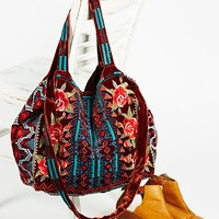 Free People Velvet Bloom Tote