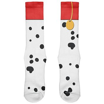 Halloween Dog Dalmatian Red Collar Costume All Over Soft Socks
