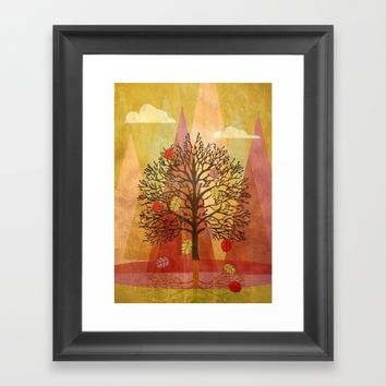 Autumn Tree Framed Art Print by mirimo