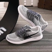 """Nike"" Men Sport Casual Multicolor Flyknit Running Shoes Breathable Sneakers"