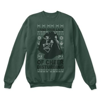 PEAPINY I Find Your Lack Of Cheer Disturbing Star Wars Ugly Christmas Sweater