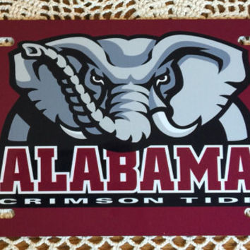 Alabama License plate University of alabama crimson tide metal car tag new license plate alabama crimson tide elephant