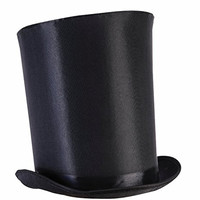 Tall Black Top Hat Magician Mad Hatter Steampunk Ringmaster Costume Accessory