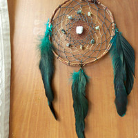 Medium Dream Catcher with Grass Turquoise and Howlite // Boho Hippie Home Apartment Dorm Decor