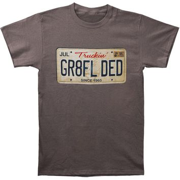 Grateful Dead Men's  GR8FL DED T-shirt Grey Rockabilia
