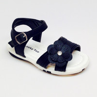 Black Girl Sandal with Flower