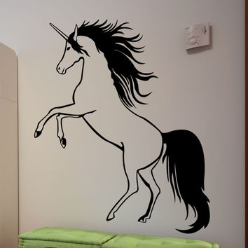 Vinyl Wall Decal Sticker Standing Unicorn #1570