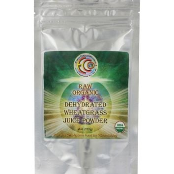 Earth Circle Organics Grass Juice Powder - Organic - Wheatgrass - 4 Oz