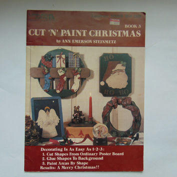 Cut 'N' Paint Christmas Leisure Arts Crafts 1095 Tole Painting