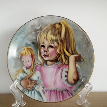 Haviland Limoges Plate, Limoges Pinky and Baby Plate Signed