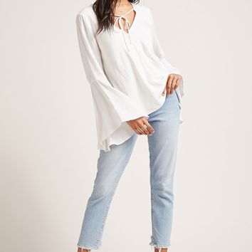 Self-Tie Surplice Top