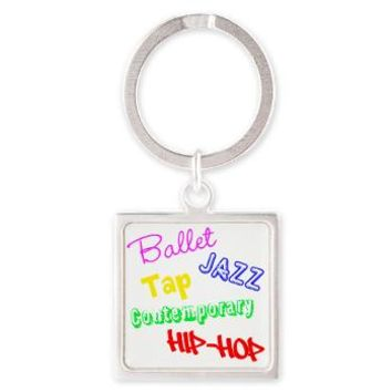 Dance Styles #4 Square Keychain