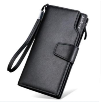 Best Quality Men's Long Leather Wallet With Clutch Zipper