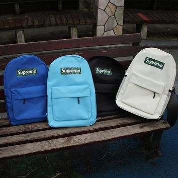 Stylish Lightweight street fashion supreme Backpack Canvas Travel Bag