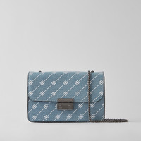 Mini print handbag with clasp - Bags - Bershka United States