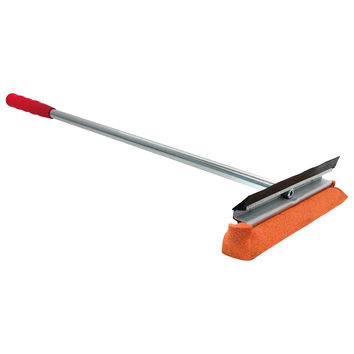 """12"""" Window Squeegee Washer Scrubber Cleaner Wiper with 20"""" Red Wooden Handle, Ideal for Auto, Car, Home, Truck, Boats & More."""