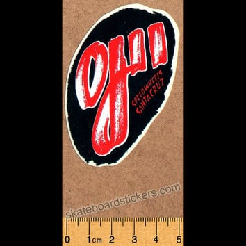 Santa Cruz Old School Skateboard Sticker - OJ II Speed Wheels