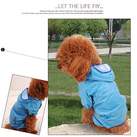 Pet Dog Puppy Raincoat 11 Size four-legged dog coat dog clothes available for both small and large dogs Blue 10