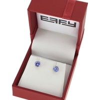 Effy Tanzanite and 14K Yellow Gold Stud Earrings