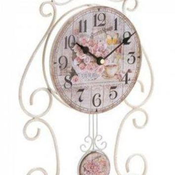 Iron Country Rose Tabletop Clock