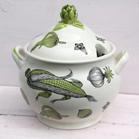 Vintage Soup Tureen, Vintage Container, Kitchen Storage, Kitsch