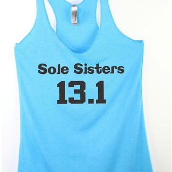 Sole sisters running shirt , funny running tanks :)