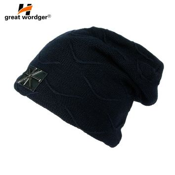 Winter Outdoor Sports Caps Windproof Wool Knitted Thermal Hiking Caps Skiing Cycling Running Caps For Women Men