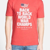 Men's Rowdy Gentleman 'Back to Back World War Champs' Graphic T-Shirt,