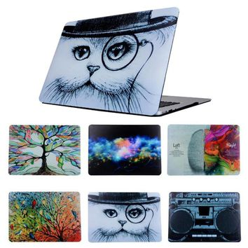For 2016 New Macbook Pro 13 15 Touch Bar A1706/A1708/A1707 Retro Cat Oil Painting Cartoon Protective Hard Cover Case