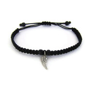 Supernatural friendship bracelet- Angel's Wing bracelet - macrame bracelet