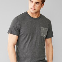 Tri Blend Print Pocket T Shirt