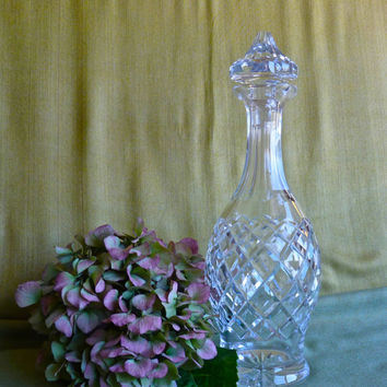 "WATERFORD CRYSTAL DECANTER ""Comeragh"" Vintage Crystal"