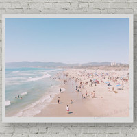 Beach print- printable Art-  Modern beach photography - Nature - Wall decor - Digital art - Printable - Digital Poster - Instant Download