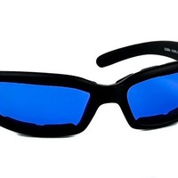 Blue Lens Sunglasses Biker Motorcycle Riding Glasses