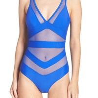 Ted Baker London Illiana Mesh Detail One-Piece Swimsuit | Nordstrom